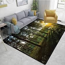 de tablecovershome teppich mit waldtier motiv für