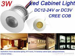 recessed 3w mini led cabinet light 3v 12v low voltage indoor