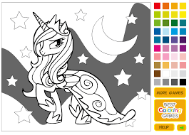 My Little Pony Coloring Pages Games 19 Bold Design Princess Luna