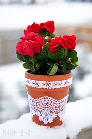 Lace Flower Pots With Elmers Craft Bond Fabric Glue By WhipperBerryBottle Green Chiffon