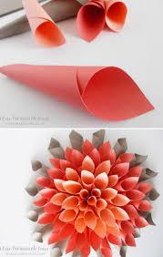 Origami Paper Dahlia Flower Wall Art