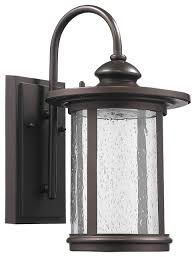 harold rubbed bronze outdoor wall sconce small transitional