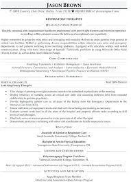 Professional Resumes Examples 2016 Medical Resume Writers Respiratory Therapist