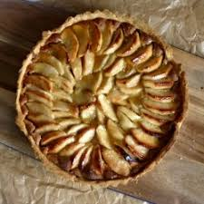 Parisian Apple Tart A Thin Sweet Shortcrust Pastry Case Filled With Layer
