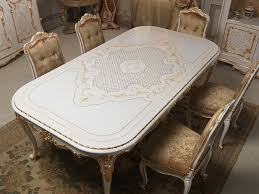 Ortanique Round Glass Dining Room Set by Dining Table In Louis Xv Style With Rich Carvings Executed By Hand