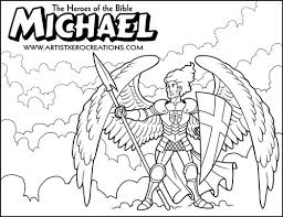 The Heroes Of Bible Coloring Pages Michael