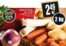 cora promotion légumes pour pot au feu groenten voor stoofpotje