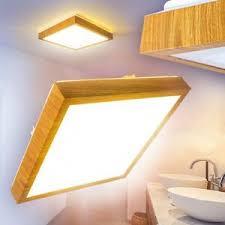details zu led deckenle badezimmer holzoptik eckig feuchtraum leuchte quadrat le ip44