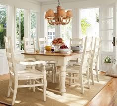 Tables Chairs Sumner Pottery Barn Extending Kitchen Table Thick Planked Wood Top White Substantial Legs