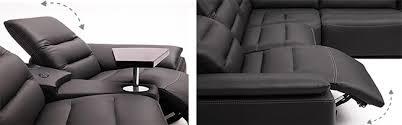 canape angle cuir relax canapé d angle en cuir avec système audio bluetooth