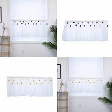sterne verdunkelung vorhang stoff halbe vorhänge vorhänge weiß halbschatten wohnzimmer schlafzimmer fenster dekorative vorhänge h0522