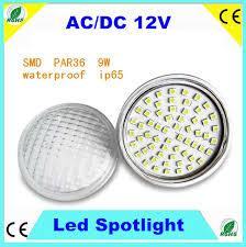 ac dc 12v par 36 8w led spotlight 60pcs smd5050 led ip65 120degree