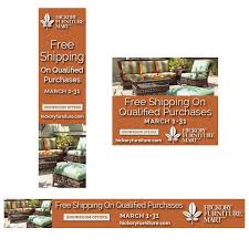 Hickory Furniture Mart web banners – Free Shipping for March 2017
