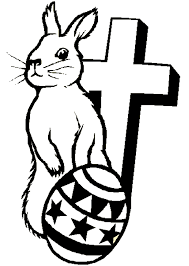 Easter Cross Coloring Pages Bunny And Printables