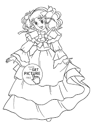 Nice Candy Anime Coloring Pages For Kids Printable Free