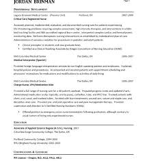 Er Rn Resume Interesting Surprising Sample Of Nursing Nurse Example Samples