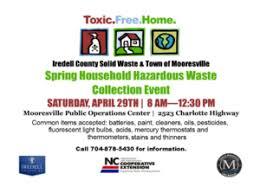 household hazardous waste collection event carolina