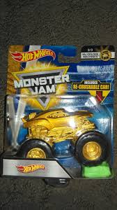 100 Team Hot Wheels Monster Truck Jam Firestorm Gold Machines 33