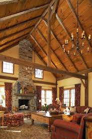 Beautiful Design Ideas 12 Cathedral Fireplace House Plans Rustic Vaulted Ceiling