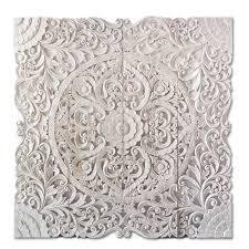 White King Headboard Wood by Balinese Bed Headboard Wood Carving Siam Sawadee