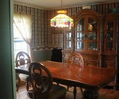 HUTCH AND DINING ROOM TABLE W 6 CHAIRS