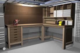 garage shop corner l shape workbench design woodworking talk
