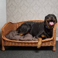 Xlarge Dog Beds by Prestige Wicker Willow Pet Bed Settee X Large