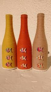 Decorative Wine Bottles Crafts by 728 Best Wine Bottles Images On Pinterest Decorated Bottles