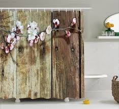 Primitive Outhouse Bathroom Decor by Country Style Shower Curtains Printed Tree Pattern In Coffee