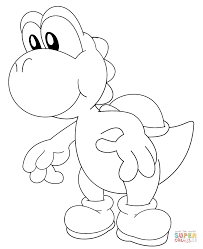 Baby Yoshi Coloring Page