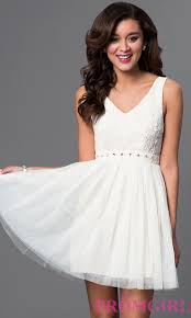 lace top short dress with open back promgirl