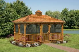 Stunning Screened Gazebo Photos by Wood Rectangular Gazebos Country Shedsnorth Country Sheds