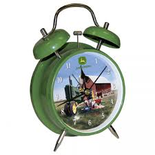 John Deere Room Decorating Ideas by John Deere Twin Bell Green Alarm Clock Rungreen Com