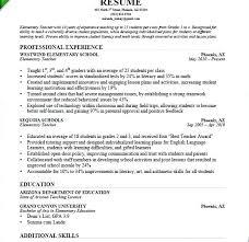 Samples Of Teacher Resumes Resume Sample A Download For