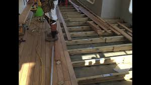 Deck Joist Hangers Nz by Deck Chair Systems Youtube