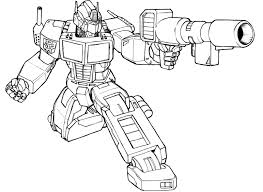 Transformer Coloring Pages Enemy Shooting Transformers Picture