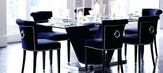 Excellent Navy Chair Slipcover Blue Dining Velvet Room Upholstered