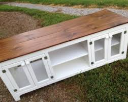 Rustic TV Stand White Media Console