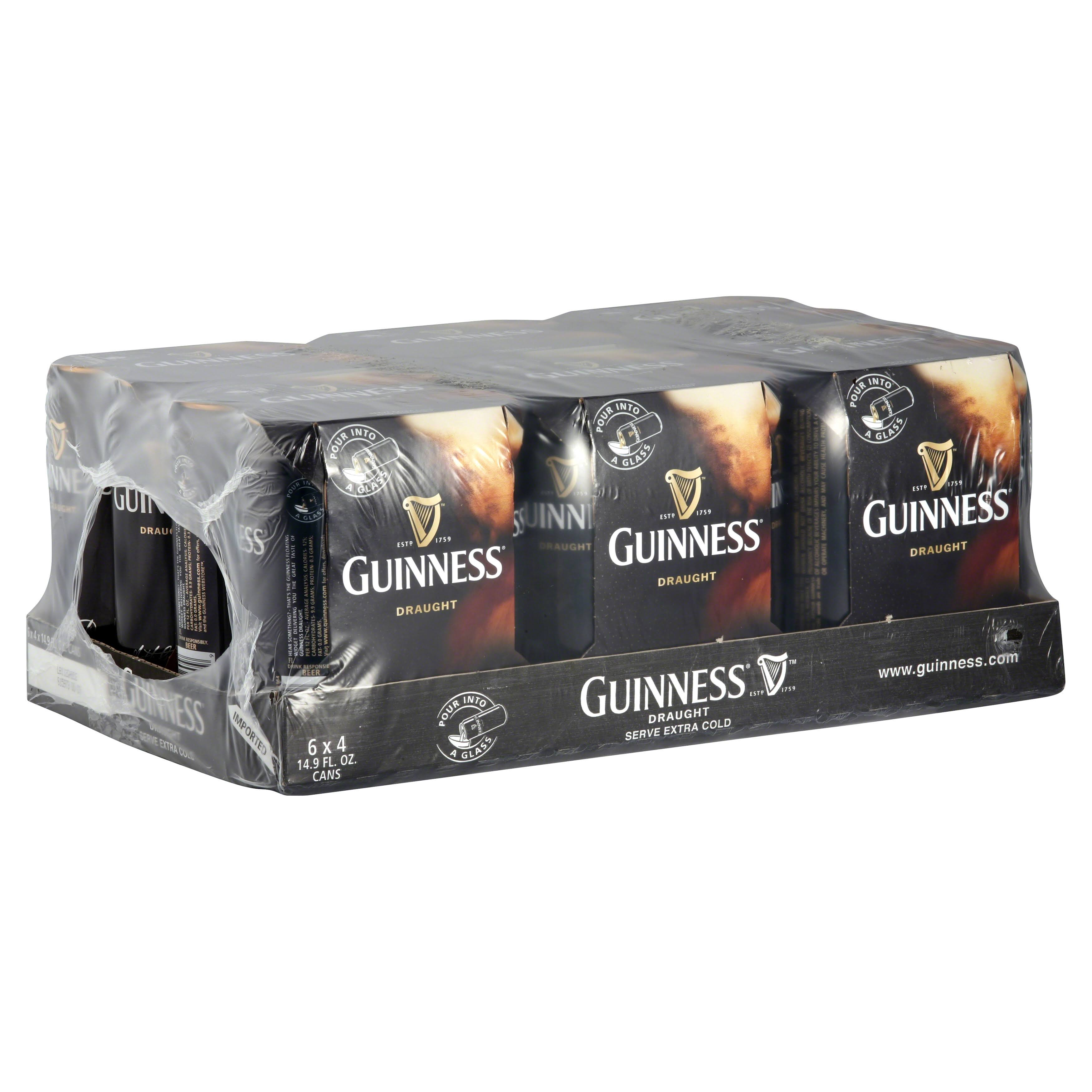 Guinness Draught Beer - 24 pack, 14.9 fl oz cans