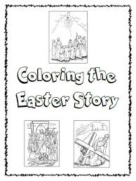 Coloring The Easter Story Homeschool Bible