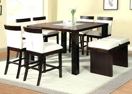 Tall Dinner Table High Chair Set Acme Counter Height Dining Room With Insert Top Intended For T