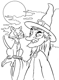 Coloring Pages Print Out Witch Halloween