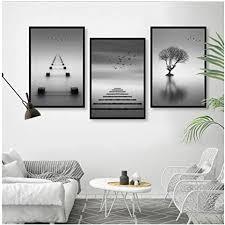 yiyaofbh leinwand wandkunst leinwand dekoration moderne minimalistische abstrakte schwarz weiß landschaft wohnzimmer dekorative malerei rahmenlose
