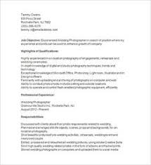 Sample Resume For Photographer Template Free Samples Examples Format