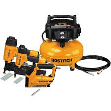 bostitch btfp3kit 3 tool and compressor combo kit amazon com