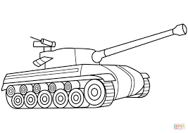 Click The Tank Coloring Pages