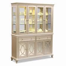 Dining Room Cabinet Luxury Glass Front Buffet China Tall
