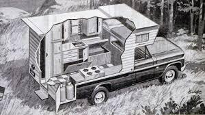 100 Pickup Truck Camper HQ Cutaway 1967 Kamp