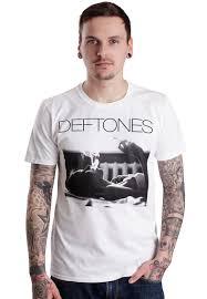 Smashing Pumpkins Merchandise T Shirts by Deftones Exhale White T Shirt Official Rock Merchandise Shop
