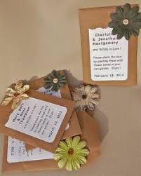 Set of 50 Wildflower Seed Wedding Party Bridal Shower Favors Eco